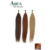 "Aqua Cylinder Extensions #m4/30 Medium Brown Brown Red 18"""