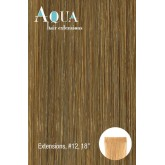 Aqua Tape In Hair Extensions #12 Dark Brown 10pc 18""