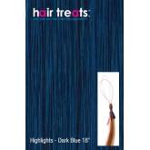 "Hair Treats Micro Sphere Highlights Dark Blue 18"""