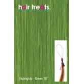 "Hair Treats Micro Sphere Highlights Green 18"""