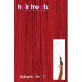 Hair Treats Micro Sphere Highlights Red 18""