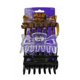 Fromm Large Hair Claw Clips Assorted 3pk