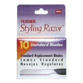 Feather Blades 10 Pak Single Side  For Razor