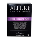 "Allure End Papers Super Jumbo 3"" x 4"" 1000 Sheets"