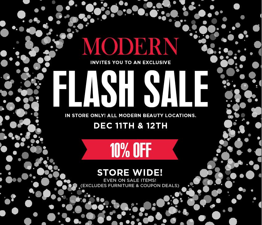 December Flash Sale Pop-Up