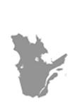 Canada Map Grey Quebec