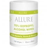 Allure 70% IPA Travel Wipes 100pk