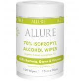 Allure 70% IPA Travel Wipes 100pk