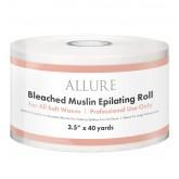 "Allure Bleached Muslin Epilating Roll 3.5"" x 40yd"
