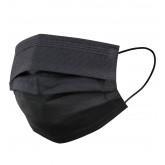 Allure Disposable 3-Ply Face Masks Black 50pk