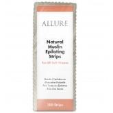 Allure Natural Muslin Epilating Strips 100pk