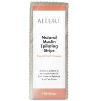 Allure Natural Muslin Epilating Strips 100pk - Small