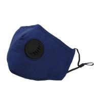 Allure Reusable Valve Face Mask - Blue