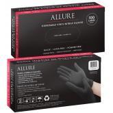 Allure Vinyl Nitrile Gloves Black 100pk