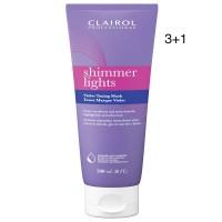 Clairol Shimmer Lights Violet Toning Mask 6.8oz 3+1