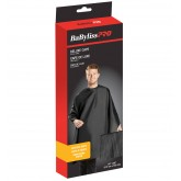 BabylissPRO Extra Large Cutting Velcro Cape Black