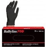 Babyliss PRO Black Nitrile Gloves 100pk - Extra Large