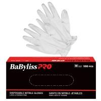 Babyliss PRO White Nitrile Gloves 100pk
