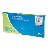 Dannyco Black Satin Reusable Gloves 5pk - Medium