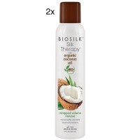 Biosilk Silk Therapy Coconut Oil Whipped Mousse 8oz 2pk