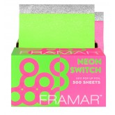 "Framar Neon Switch Embossed Pop Up Foil 5x11"" - 500pk"