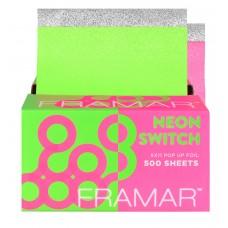 "Framar Neon Switch Embossed Pop Up Foil 5x11"" - 500pk"