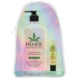 Hempz Body Moisturizer 17oz & Lip Balm Gift Set - Pomegranate