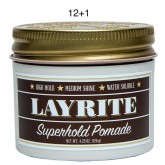 Layrite Superhold Pomade 4.3oz 12+1
