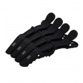 Majestic Keratin Rubber Soft Touch Hair Clips 4pk
