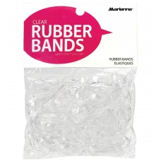 Marianna Elastic Rubber Bands Clear 250pcs