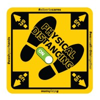 Physical Distancing Floor Sticker