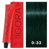 Igora Royal 0-33 Dark Blue Green 2oz