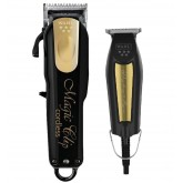 Wahl Black & Gold 5 Star Cordless Magic Clip & Detailer Duo
