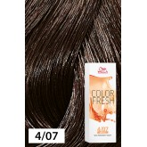 Wella Color Fresh 4/07 Medium/Natural Brown 2.5oz