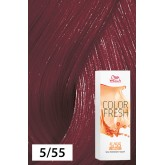 Wella Color Fresh 5/55 Light Brown/Intense Red Violet 2.5oz