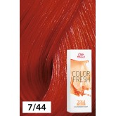 Wella Color Fresh 7/44 Medium Blonde/Intense Red 2.5oz