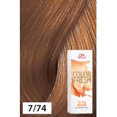 Wella Color Fresh 7/74 Medium Blonde/Brown Red 2.5oz