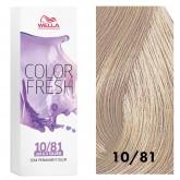 Wella Color Fresh 10/81 Lightest Blonde/Pearl Ash 2.5oz