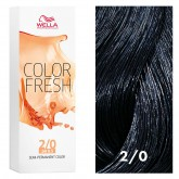 Wella Color Fresh 2/0 Darkest Brown/Natural 2.5oz