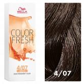 Wella Color Fresh 4/07 Medium/Natural Brown 2.5oz