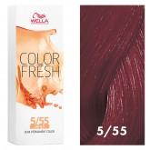 Wella Color Fresh 5/55 Light Brown/Intense Red Violet 2.5oz