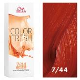 Wella Color Fresh 7/44 Medium Blonde/Intense Red 2.5oz