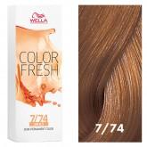 Wella Color Fresh 7/74 Medium Blonde/Brown Red 2.5oz
