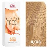 Wella Color Fresh 8/03 Light Blonde/Natural Gold 2.5oz