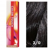 Wella Color Touch 3/0 Dark Brown/Natural 2oz