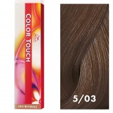 Wella Color Touch 5/03 Light Brown/Natural Gold 2oz