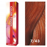 Wella Color Touch 7/43 Medium Blonde/Red Gold 2oz