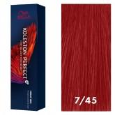 Wella Koleston Perfect Vibrant Reds 7/45 Medium Blonde Red Red-Violet 2oz