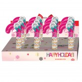 Invisibobble Holiday Candy Cane Display 12pc