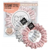 Invisibobble Sprunchie Slim 2pk - Bella Chrome